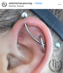 Cartilage Orbital Piercing