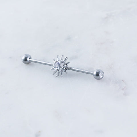 North Star Industrial Barbell Industrial bar Industrial Piercing Jewelry