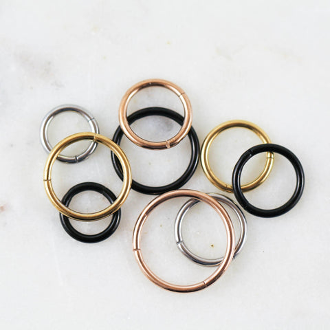 Plain Hinged Seam Ring Helix Piercing Jewlery Hoop Cartilage Hoop Cartilage Jewlery