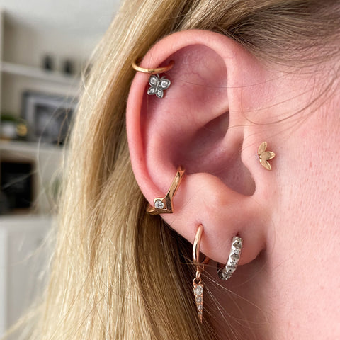 Tao Hinged Seam Ring Conch Piercing Jewelry Conch Hoop Conch Earring