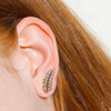 Olive Branch Ear Climber (Pair)