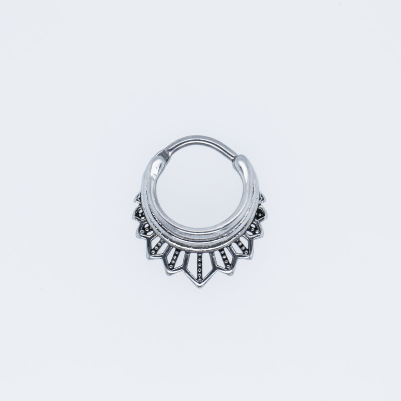 Akna Clicker Silver Daith or Septum Piercing Jewelry