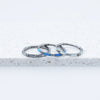 Titanium Ebba Hinged Seam Ring Opal Piercing Hoop Cartilage Ring