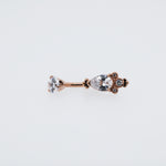 Arwen Belly Ring Crystal Navel Piercing Jewelry
