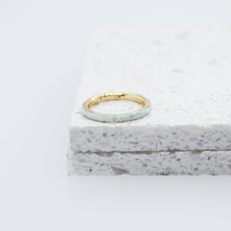 Inset Opal Hinged Seam Ring