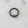 Black Crystal Captive Bead Ring Piercing Hoop