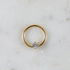Gold Crystal Captive Bead Ring Piercing Hoop