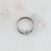 Silver Crystal Captive Bead Ring Piercing Hoop