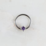 Crystal Captive Bead Ring