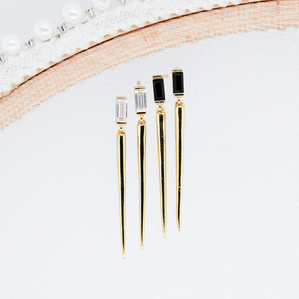 Sera Earrings long Spike Push Back Stud Earrings