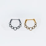 Scalloped Pearl Clicker for Septum or Daith Piercings in Silver or Gold