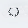 Scalloped Pearl Clicker for Septum or Daith Piercings in Silver