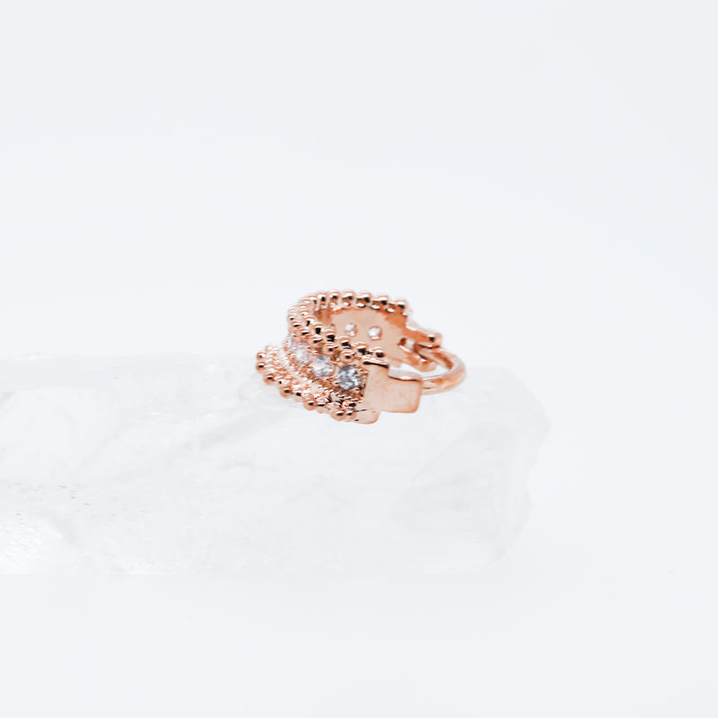 Divine Clicker Rose Gold Piercing Jewelry for Septum or Daith or Conch Hoop