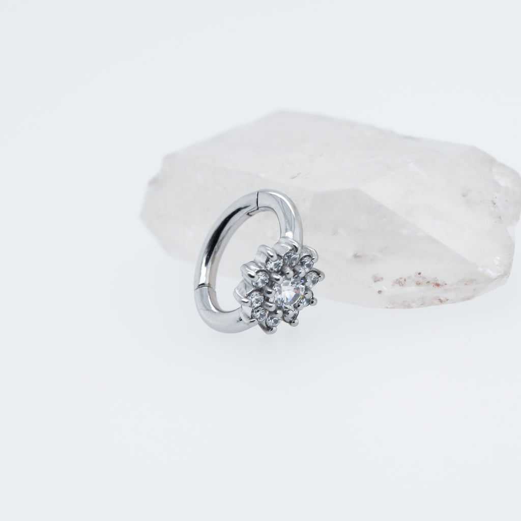 Sunflower Cute Belly Button Ring Navel Clicker