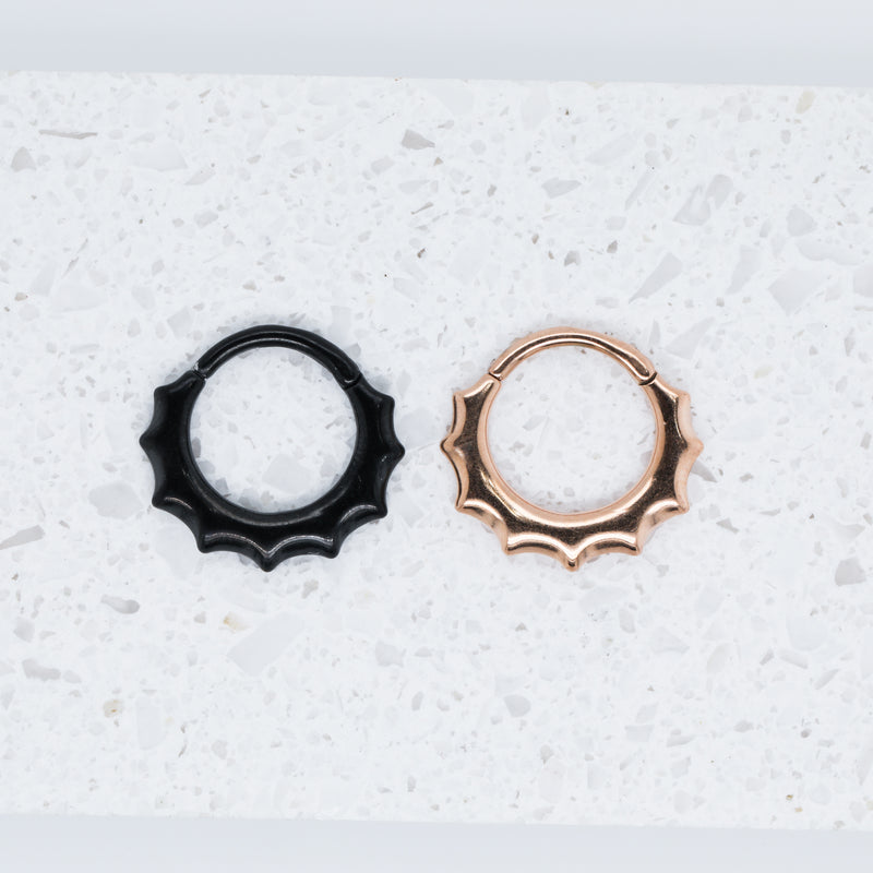 Scalloped Clicker Septum Ring or Daith Jewelry