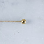 Twisted Industrial Barbell in Gold