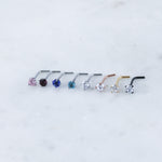 Crystal Nose Ring Nose Stud in Many Colors. Hypoallergenic Nose RIng.