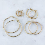 80's Hoop Earrings (Pair)