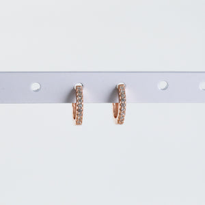 Crystal Huggie Hoop Earrings (Pair)