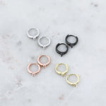 Spike Huggie Hoop Earrings (Pair)