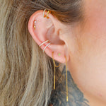 Marquise Threader Earrings (Pair)