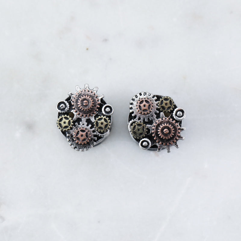 Steampunk Tunnel Plug (PAIR)