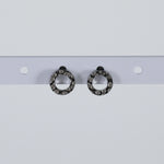 Hammered O Earrings Hypoallergenic Stud Earrings