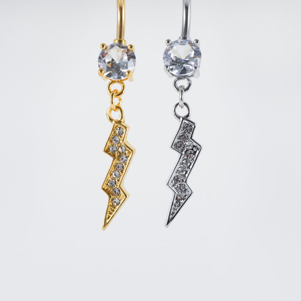 Dangling Bolt Belly Ring