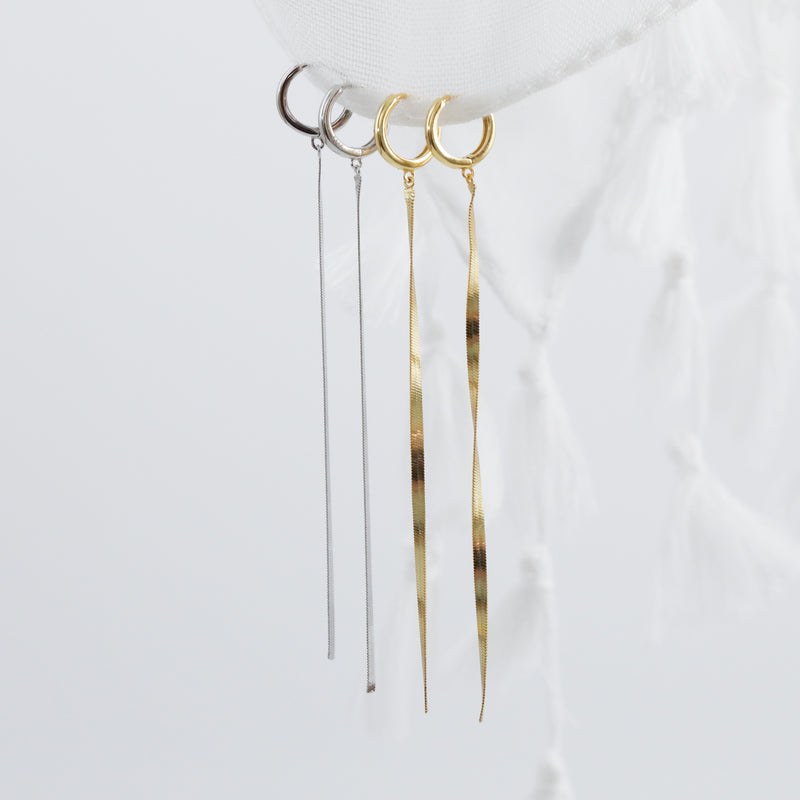 Fia Huggie Hoop Earrings (Pair)