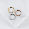 Minimalist Trio Hinged Seam Ring
