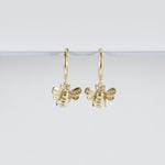 Bee Huggie Hoop Earrings (Pair)