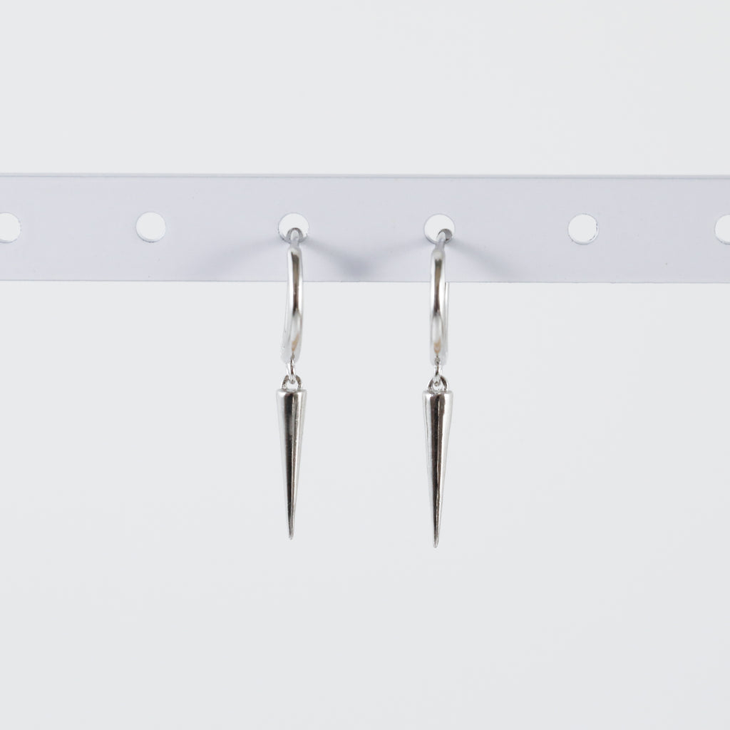 Long Spike Huggie Hoop Earrings (Pair)