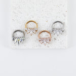 Triple Marquise Hinged Seam Ring