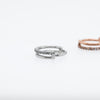 Duo Hinged Seam Ring 10mm Conch Hoop or 12mm Conch Hoop in Rose Gold or Silver with Crystals  Edit alt text