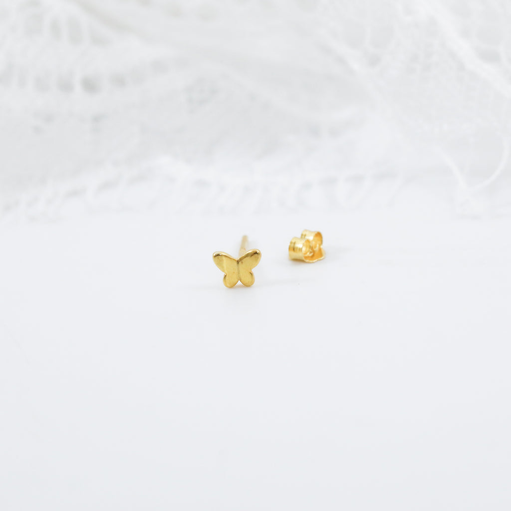 Butterfly Earrings Cute Stud Earrings in Gold or Silver