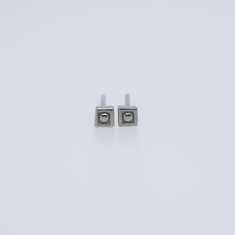 Sophia Earrings Cute Stud Earrings in Silver