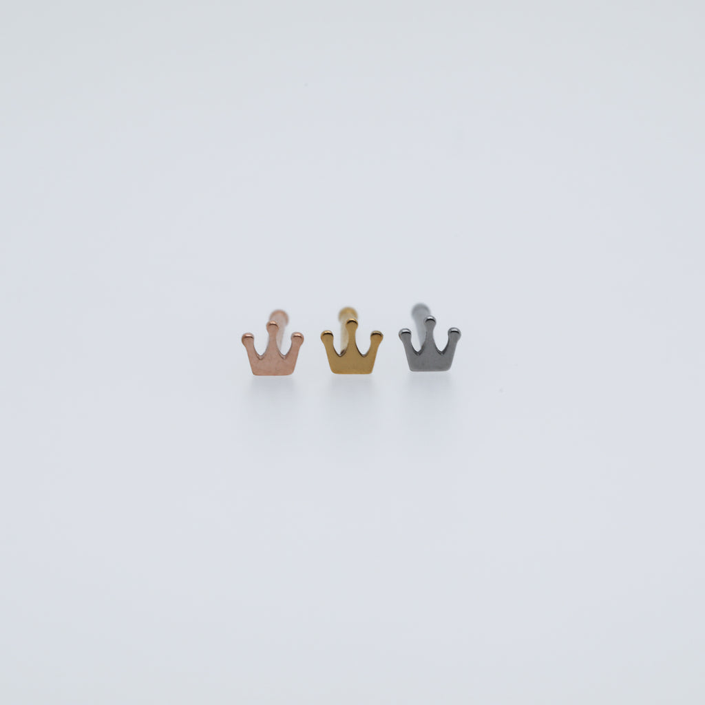 Tiny Crown Nose Bone Piercing Jewelry Nose Stud