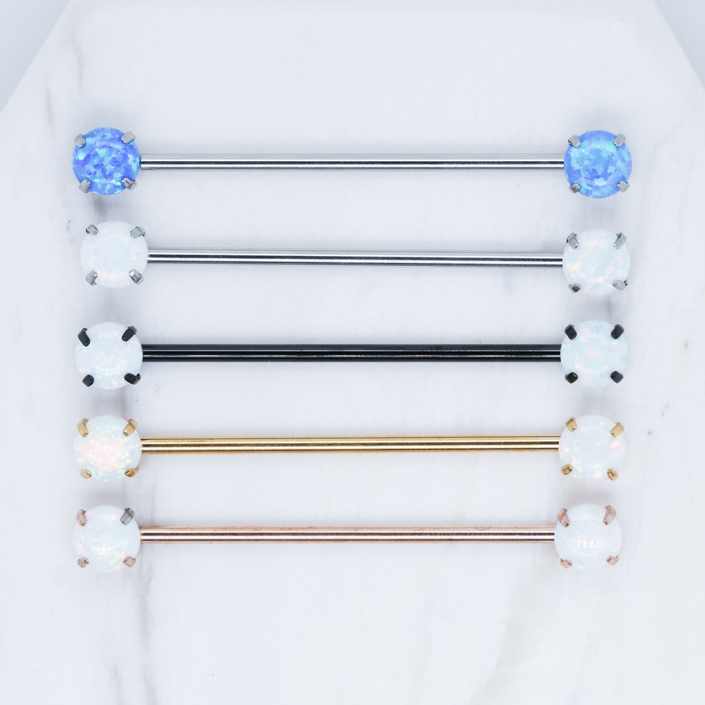 Threadless Opal Industrial Opal Industrial Piercing Jewelry