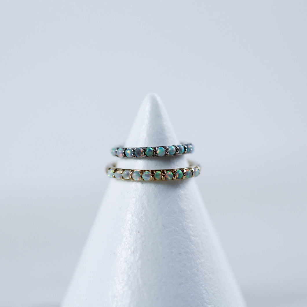 14kt Gold Opal Hinged Seam Ring