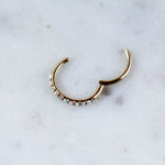 14kt Gold Opal Hinged Seam Ring Opal Conch Piercing Hoop Or Cartilage Hoop for Initial Piercings