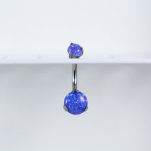 Titanium Prong Set Opal Belly Ring