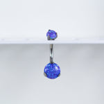 Purple Opal Titanium Opal Belly Button Ring with Internal Threading for your Navel Piercing