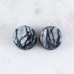 Black Net Jasper Plugs (Pair)