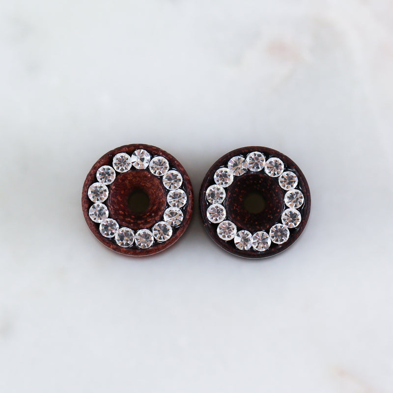 Rose Wood Crystal Tunnel (Pair)