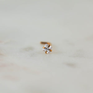 Square Gem Nose Ring