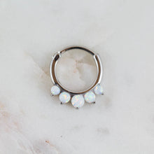 Opal Septum Piercing Jewelry Opal Daith Piercing Jewelry Opal Lobe Jewelry Opal Piercing Jewelry White Opal Clicker