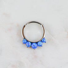 Opal Septum Piercing Jewelry Opal Daith Piercing Jewelry Opal Lobe Jewelry Opal Piercing Jewelry Blue Opal Clicker
