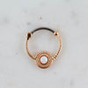 Rose Gold White Opal Septum Piercing Jewelry Daith Piercing Jewelry Opal Piercing Jewelry Opal Septum Clicker Opal Daith Jewelry