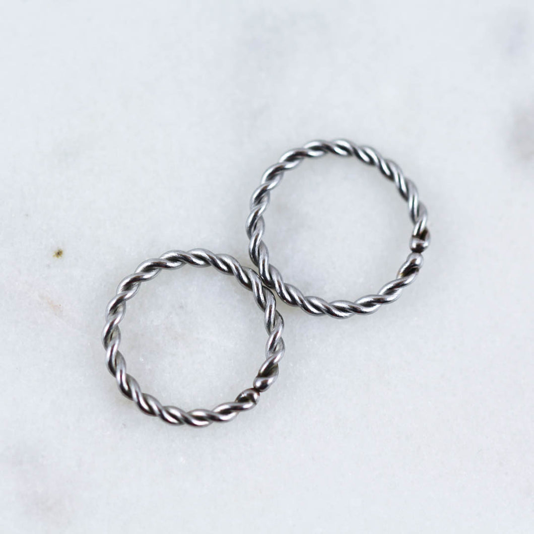 Pair Of Twisted Hoops