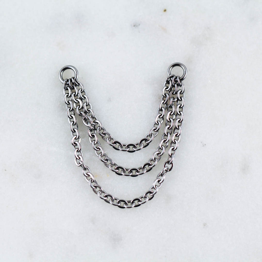 Three Tiered Silver Chain